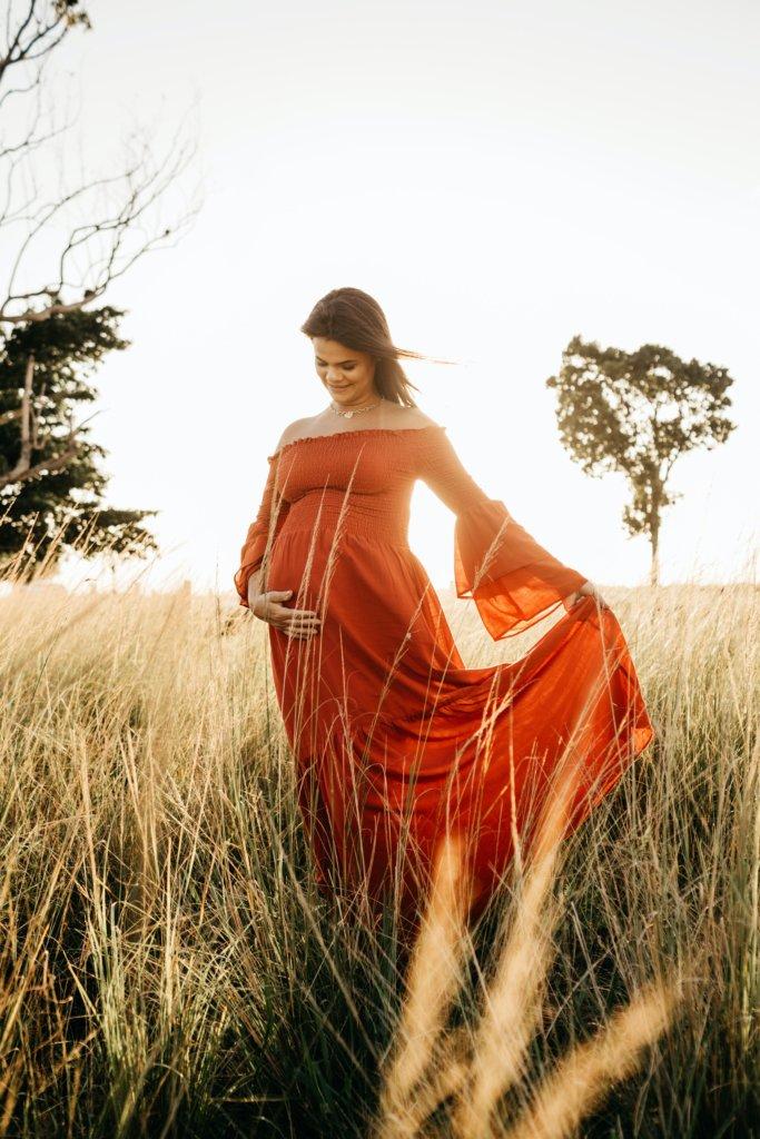 幸せな妊婦